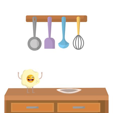 Delicious  tasty food cartoon Illustration