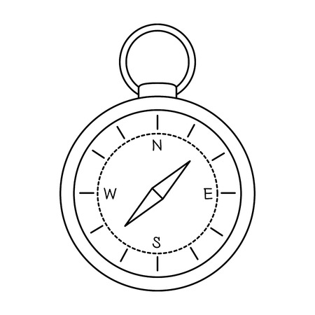 Compass guide isolated icon  イラスト・ベクター素材