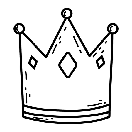 Cute queen crown with heart