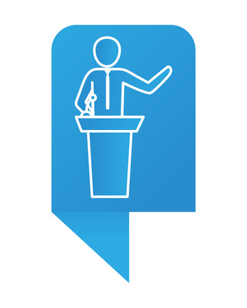 Man pictogram cartoon Illustration