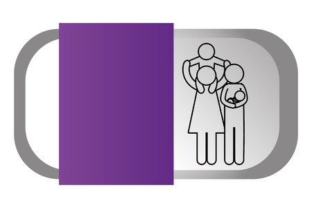 Family pictogram cartoon Illustration