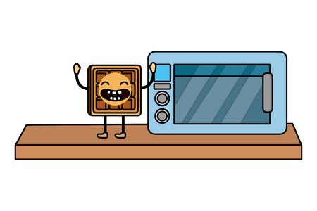 Delicious tasty food cartoon Ilustração