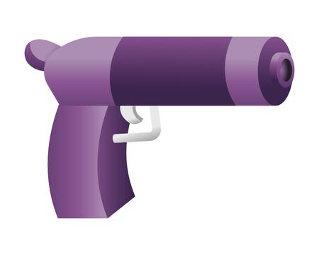 Toy gun cartoon