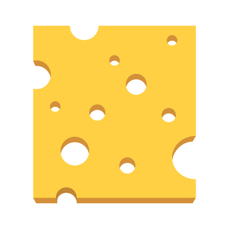 Delicious tasty cheese cartoon