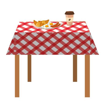 dessin animé délicieux petit déjeuner savoureux Vecteurs