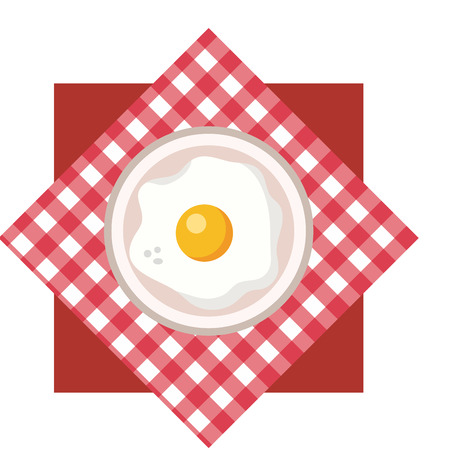delicious tasty food egg picnic concept cartoon vector illustration graphic design