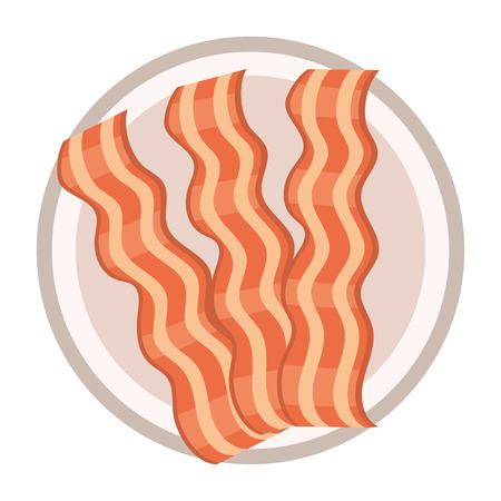 delicious tasty bacon cartoon
