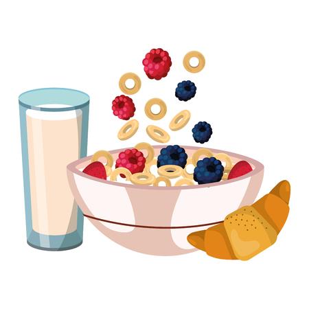delicious tasty breakfast cartoon Vecteurs