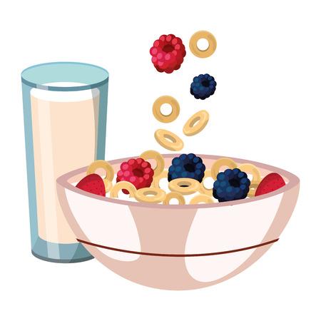 dessin animé délicieux petit déjeuner savoureux
