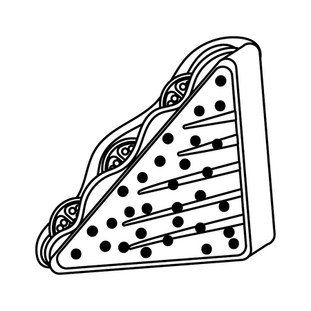 delicious tasty sandwich cartoon Vettoriali