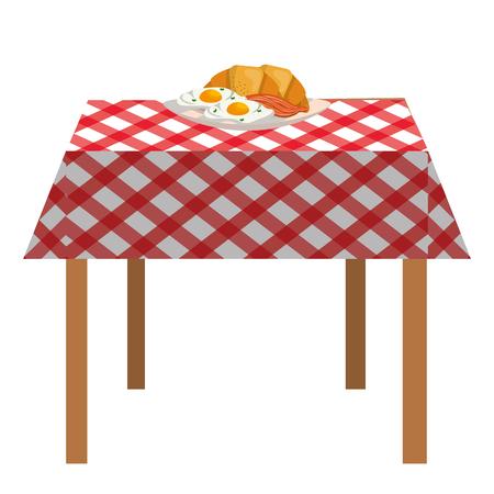 delicious tasty breakfast cartoon Standard-Bild - 119325555