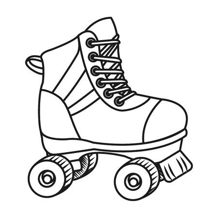 roller skate cartoon Standard-Bild - 119392749