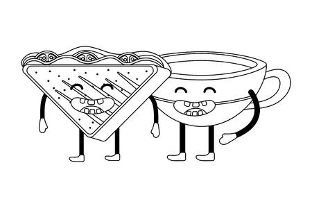 delicious tasty sandwich cartoon 矢量图像