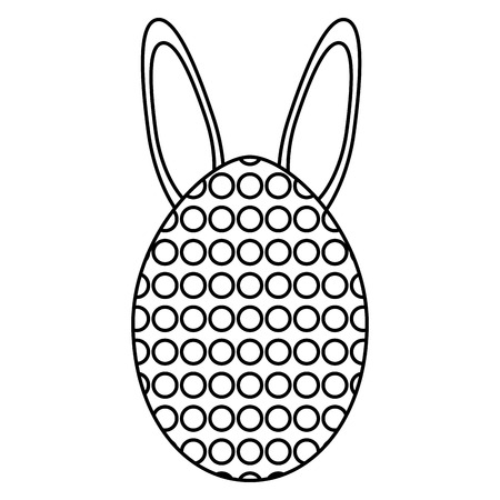egg painted with rabbit ears easter icon Standard-Bild - 119393434