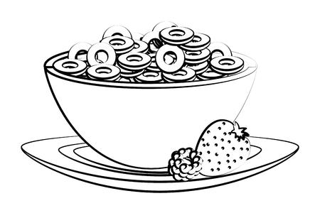 dessin animé délicieux et savoureux