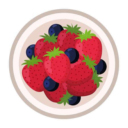 dibujos animados de comida sabrosa deliciosa Ilustración de vector