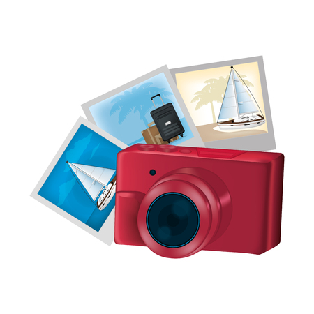 digital camera technology and art pictures vector illustration
