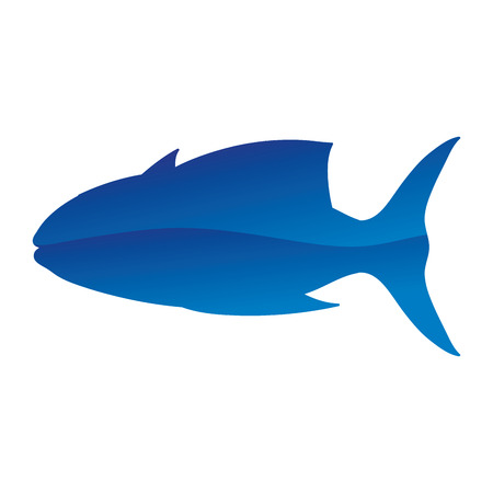 tropical tuna fish nature animal vector illustration