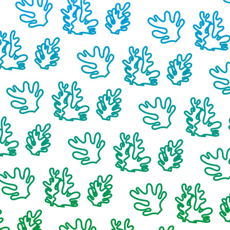 degraded line exotic seaweed nature plant background vector illustration