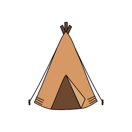 camping tent isolated icon vector illustration design 向量圖像