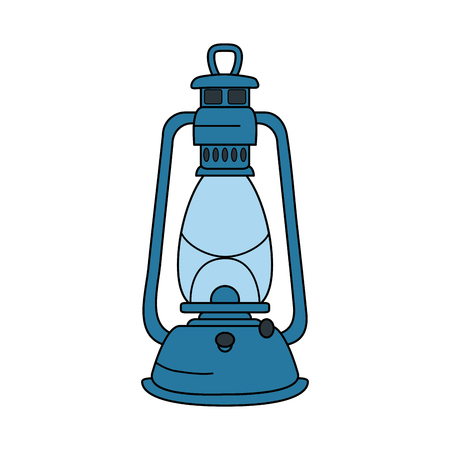 compass guide with kerosene lamp vector illustration design