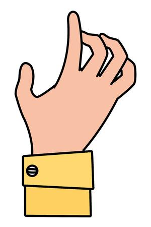 human hand cartoon vector illustration graphic design