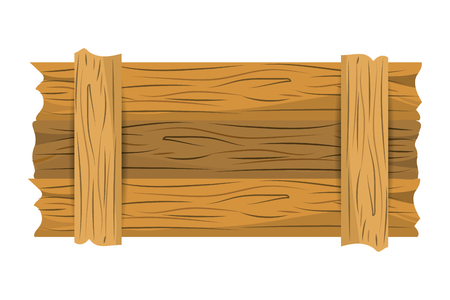 wooden banner cartoon vector illustration graphic design