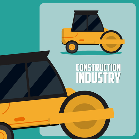 Construction industry vector illustration graphic design