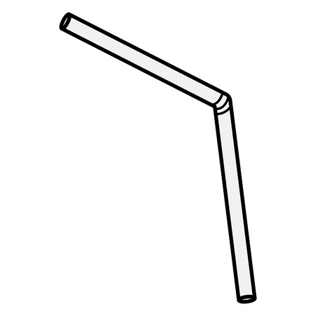 plastic straw accessory icon