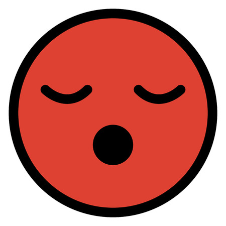 asleep face emoticon character vector illustration design