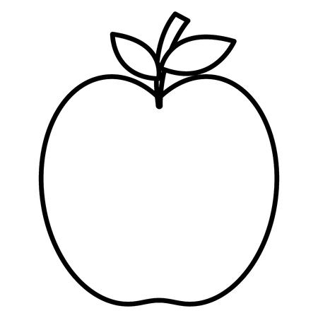 apple fresh fruit icon