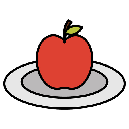 apple fresh fruit icon