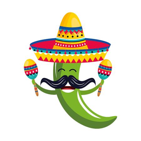 dessin animé de la culture mexicaine Vecteurs