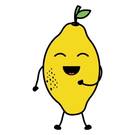 delicious mango fruit character Vectores