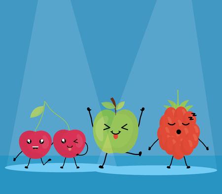 fresh fruits characters