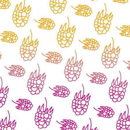 degraded line delicious grapes fresh fruit background vector illustration