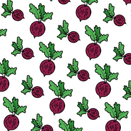 color healthy onion fresh vegetable background vector illustration