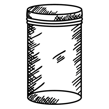 mason jar glass with lid drawing