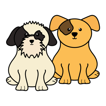 cute little dogs pets characters