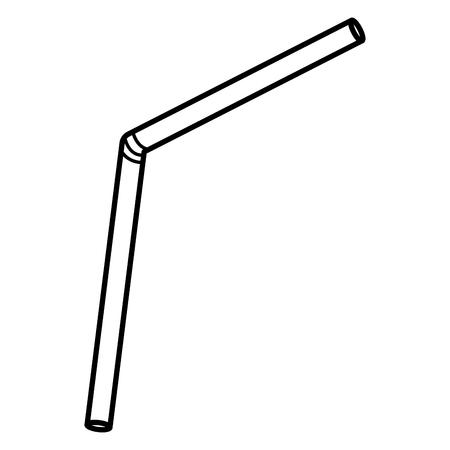 icono de accesorio de paja de plástico