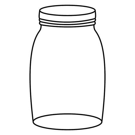 tarro de cristal con tapa Ilustración de vector