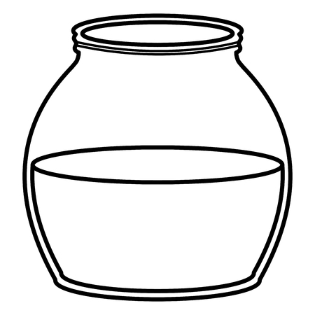 mason jar glass with liquid vector illustration design