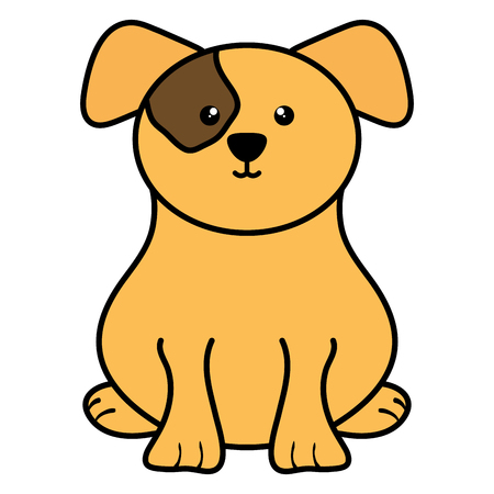 cute little dog pet character