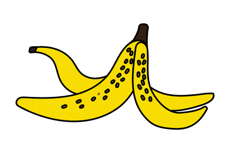 banana peel cartoon vector illustration graphic design