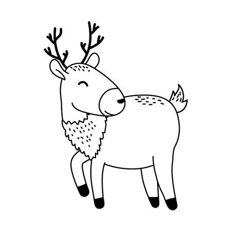 cute reindeer woodland character Foto de archivo - 120274464