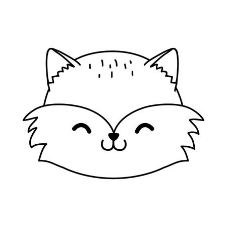 cute raccoon woodland character vector illustration design Foto de archivo - 124010286