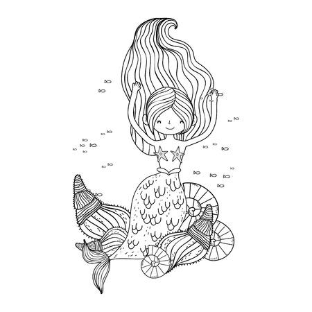 beautiful mermaid fairytale character