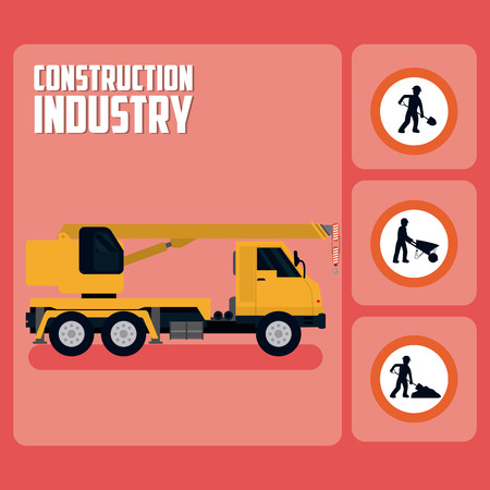 Set of construction roadsign icons Çizim