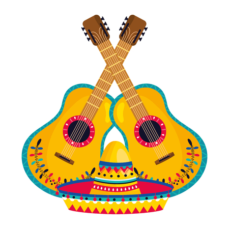 mexican culture mexico elements cartoon vector illustration graphic design