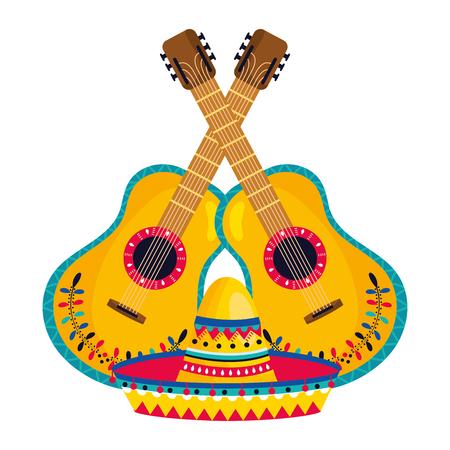 mexican culture mexico elements cartoon vector illustration graphic design